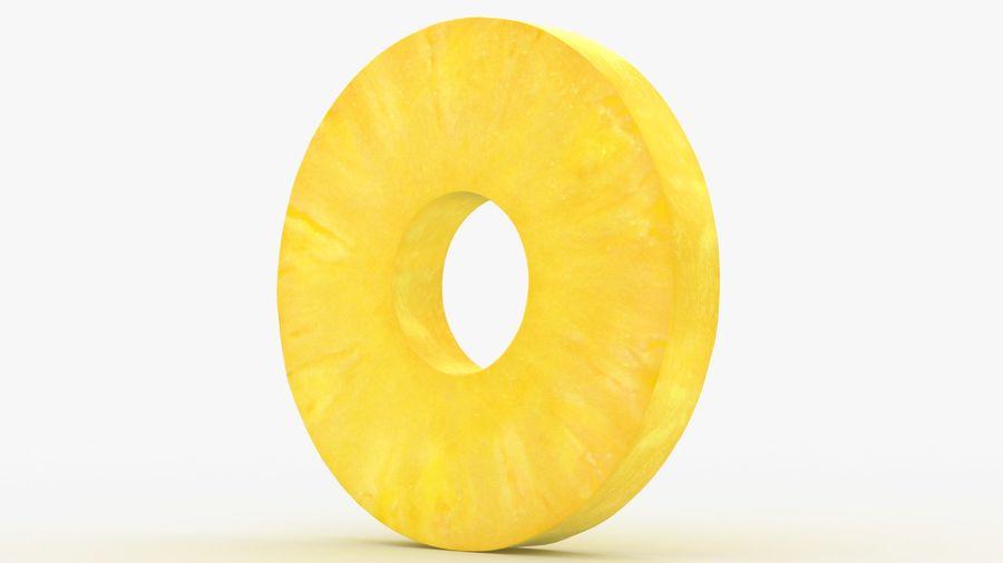 Okrągły plasterek ananasa royalty-free 3d model - Preview no. 12