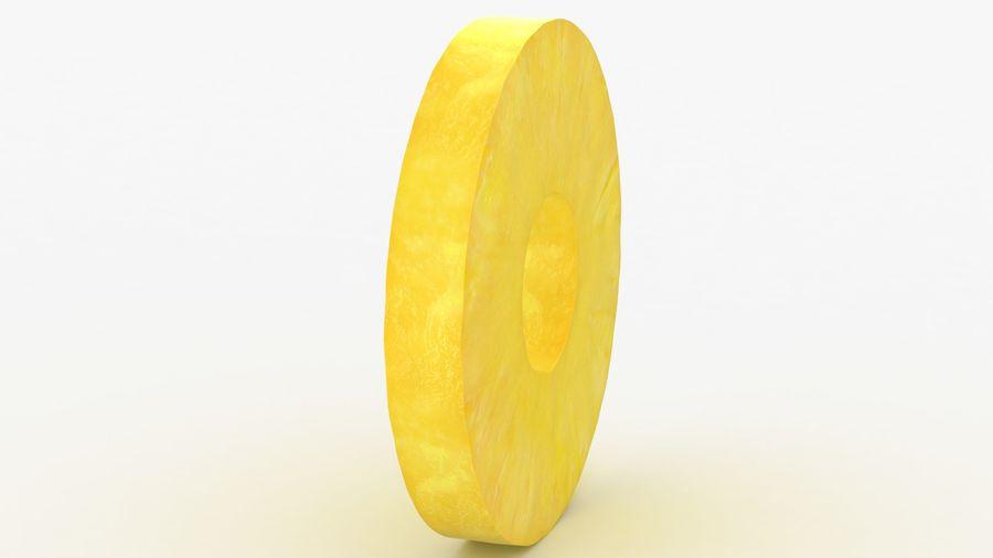 Okrągły plasterek ananasa royalty-free 3d model - Preview no. 6