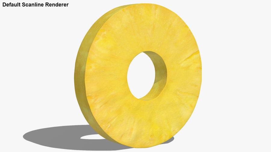 Okrągły plasterek ananasa royalty-free 3d model - Preview no. 21
