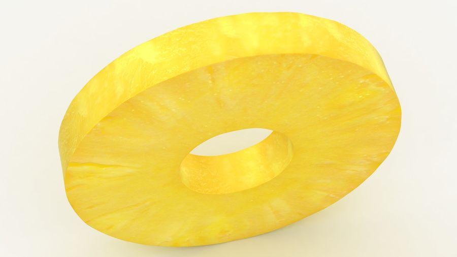 Okrągły plasterek ananasa royalty-free 3d model - Preview no. 4