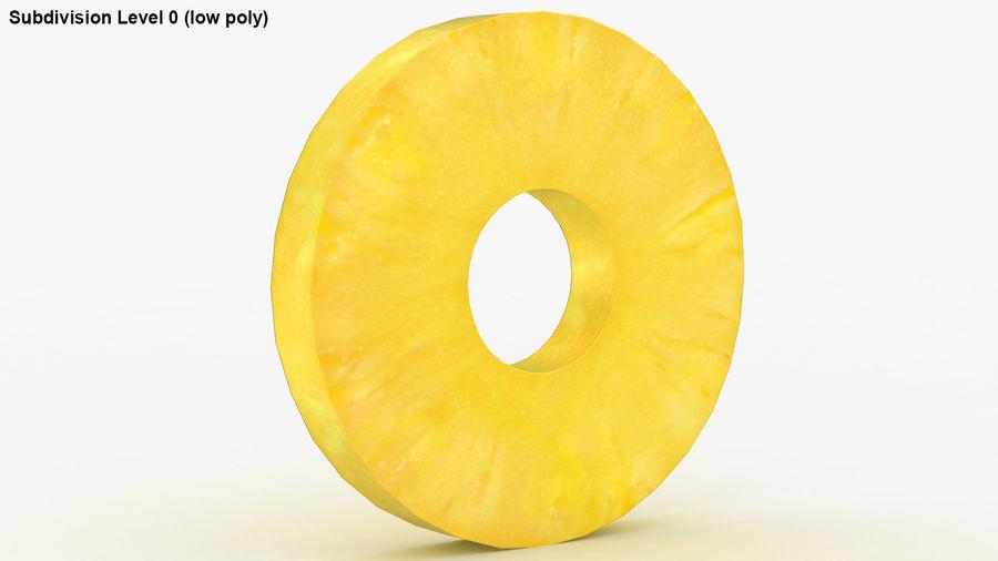 Okrągły plasterek ananasa royalty-free 3d model - Preview no. 17