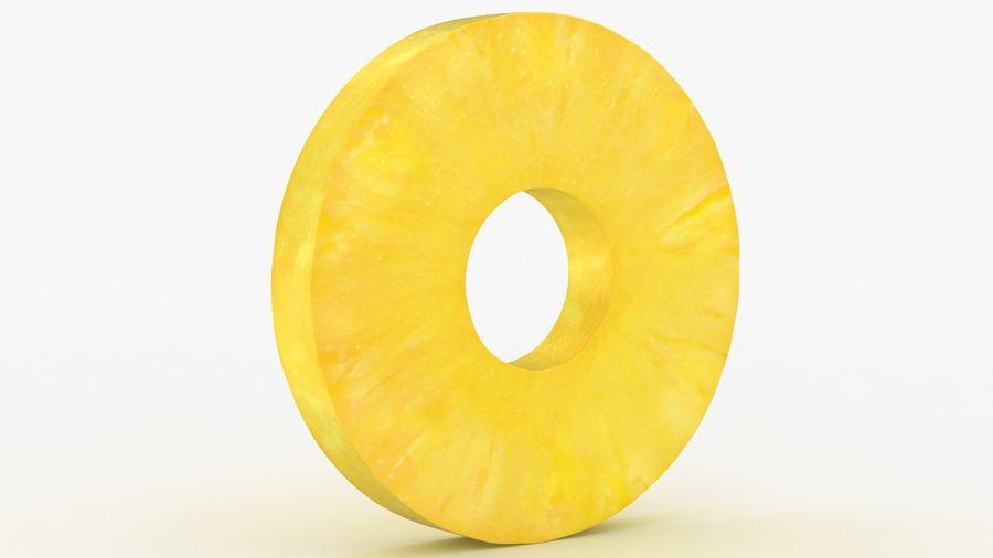 Okrągły plasterek ananasa royalty-free 3d model - Preview no. 2