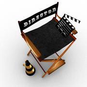 감독 의자 3d model