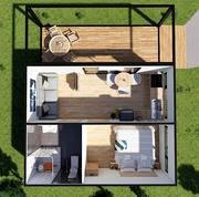 Accessible Home Design  vacation house Low-poly 3d model