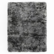 Shaggy Sheepskin Grey Rug 3d model