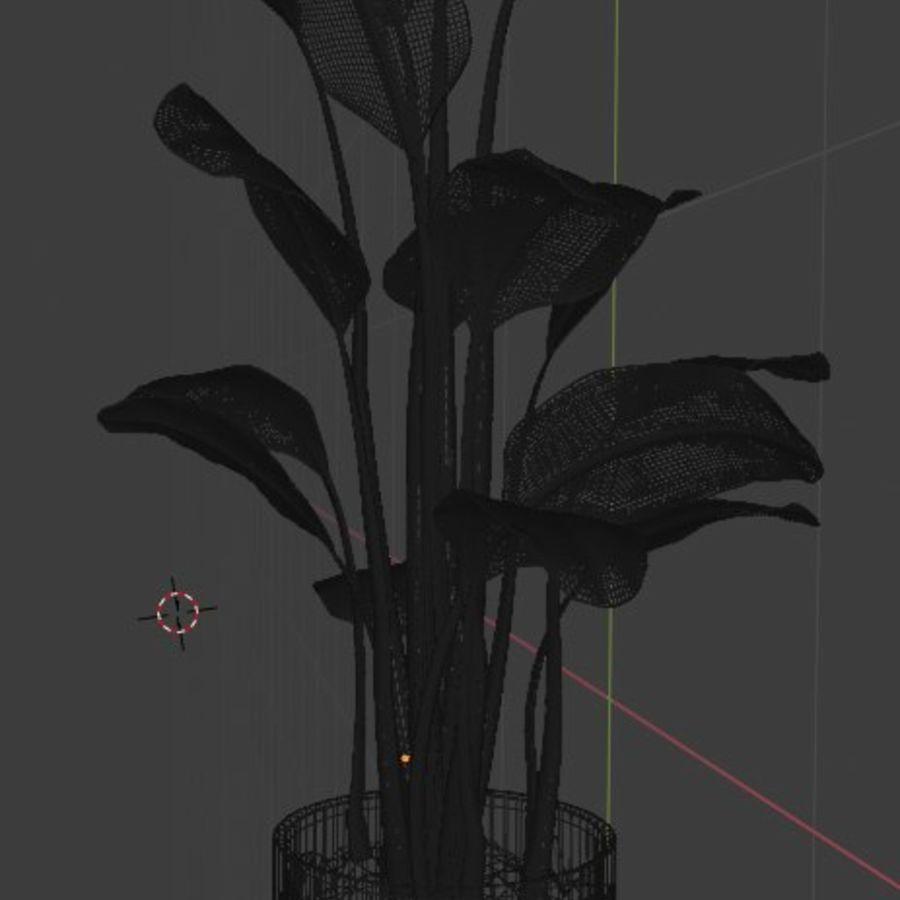 Plante en pot verte royalty-free 3d model - Preview no. 19
