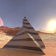 Edificio della piramide 3d model