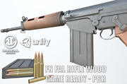 PBR FN FAL Rifle Wood 3d model