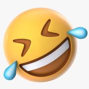 Auf dem Boden rollen Emoji lachend 3d model