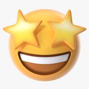 Stern Augen Emoji 3d model