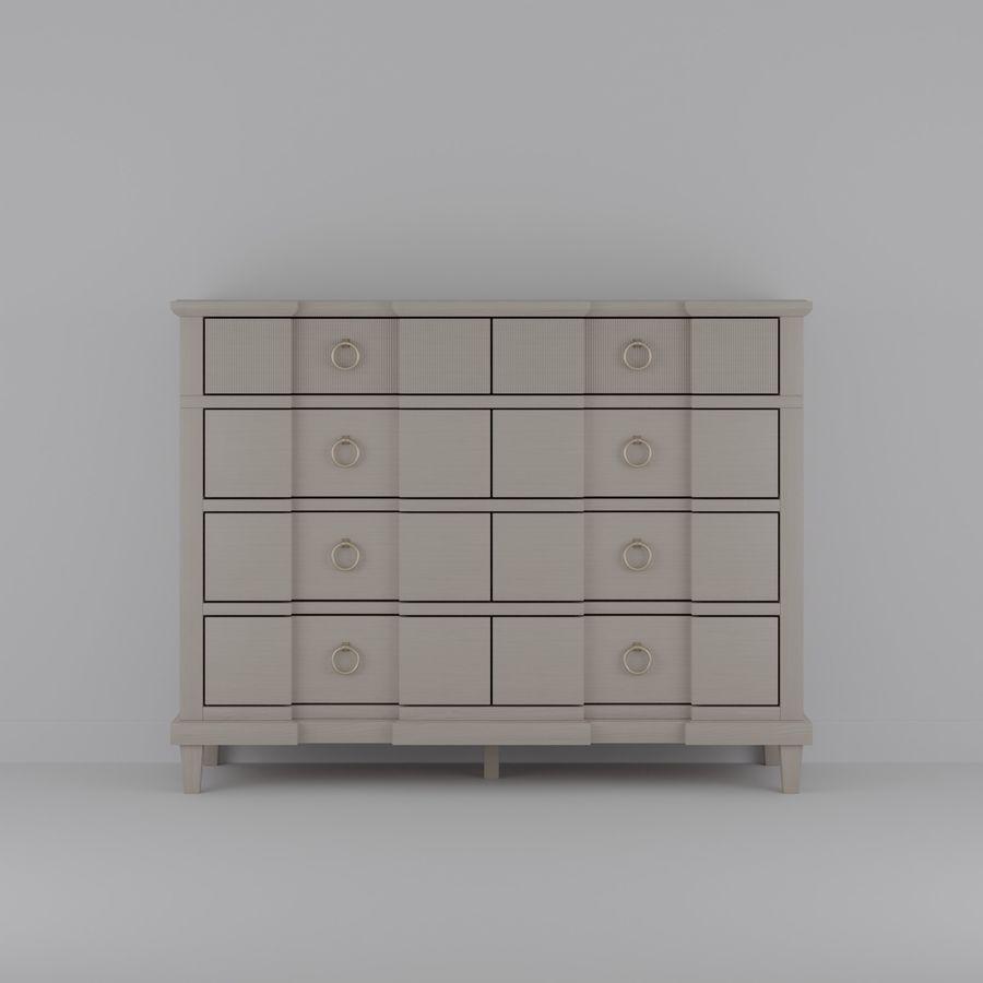 Мебель для спальни royalty-free 3d model - Preview no. 1
