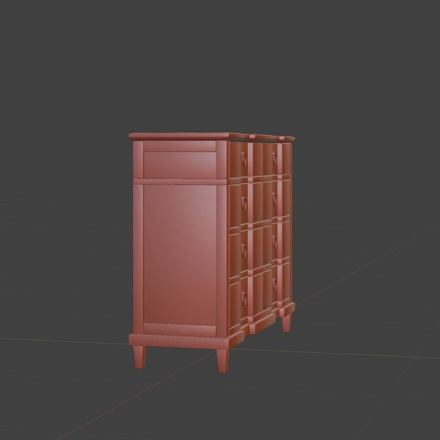 Мебель для спальни royalty-free 3d model - Preview no. 12
