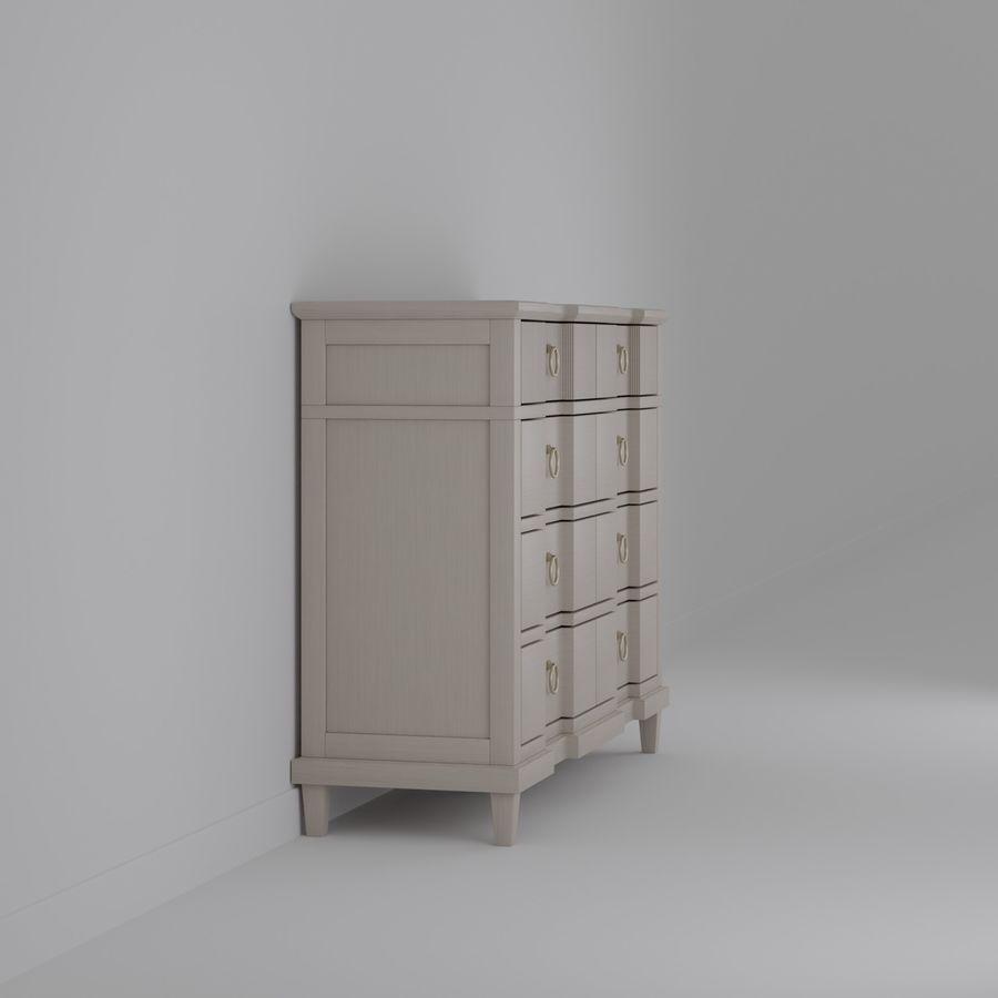 Мебель для спальни royalty-free 3d model - Preview no. 4