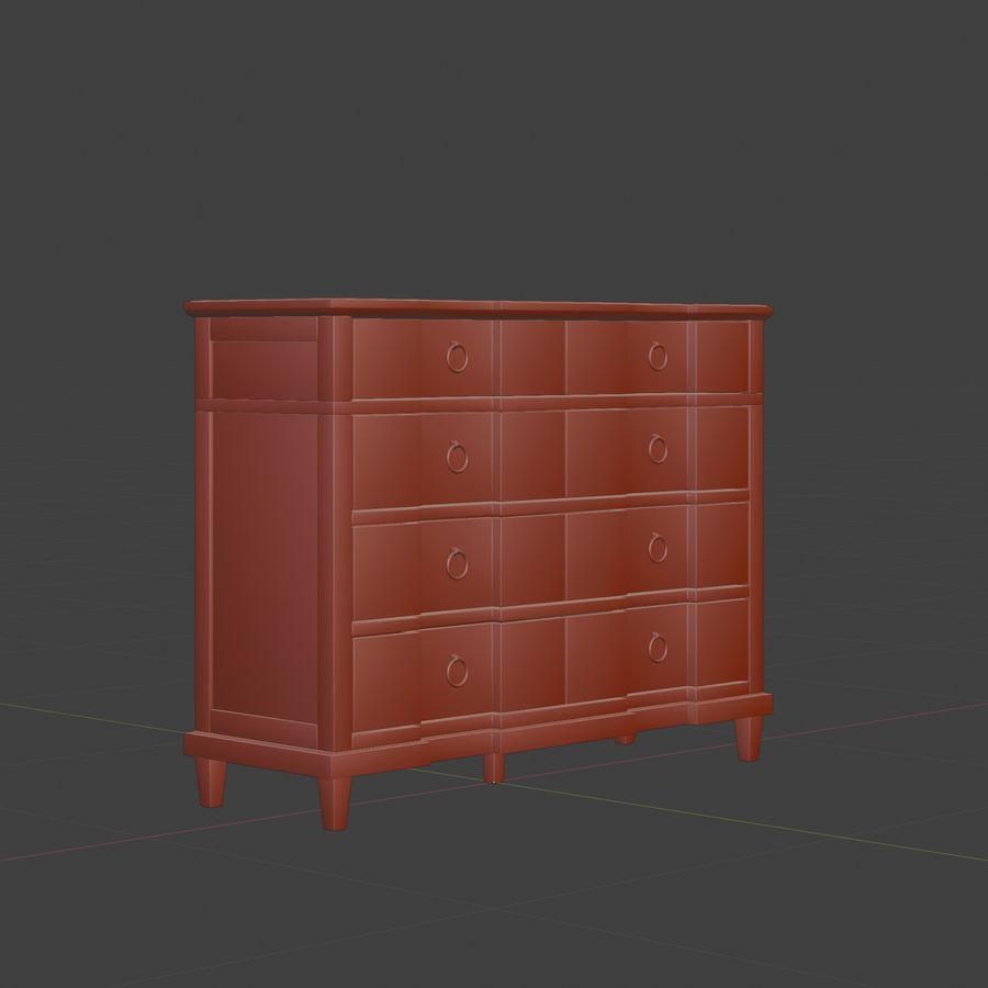 Мебель для спальни royalty-free 3d model - Preview no. 11