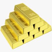 Gyllene barer 3d model