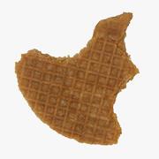 Caramel Waffle 01 Bitten 04 RAW SCAN 3d model
