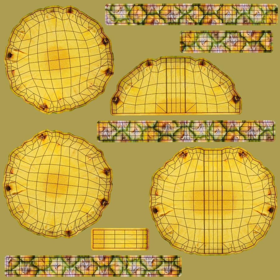 Plasterek Ananasa 03 royalty-free 3d model - Preview no. 24