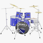 Drum Kit Blue 3d model