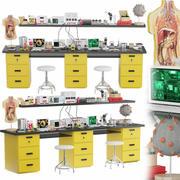 Conjunto de experiência de laboratório médico 3d model