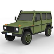 Мультфильм Военный внедорожник 3d model
