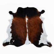 牛皮棕色和白色地毯 3d model