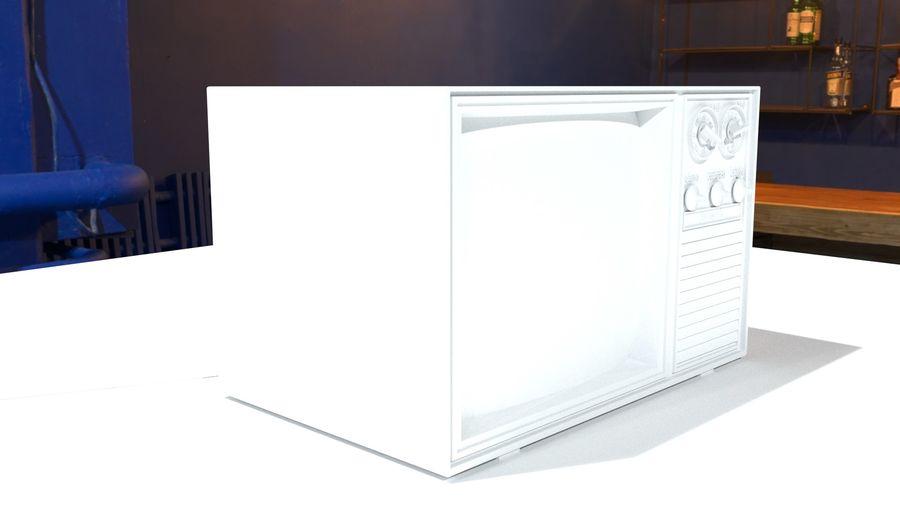 televisor vintage royalty-free modelo 3d - Preview no. 9