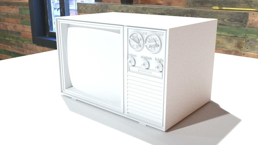 televisor vintage royalty-free modelo 3d - Preview no. 7
