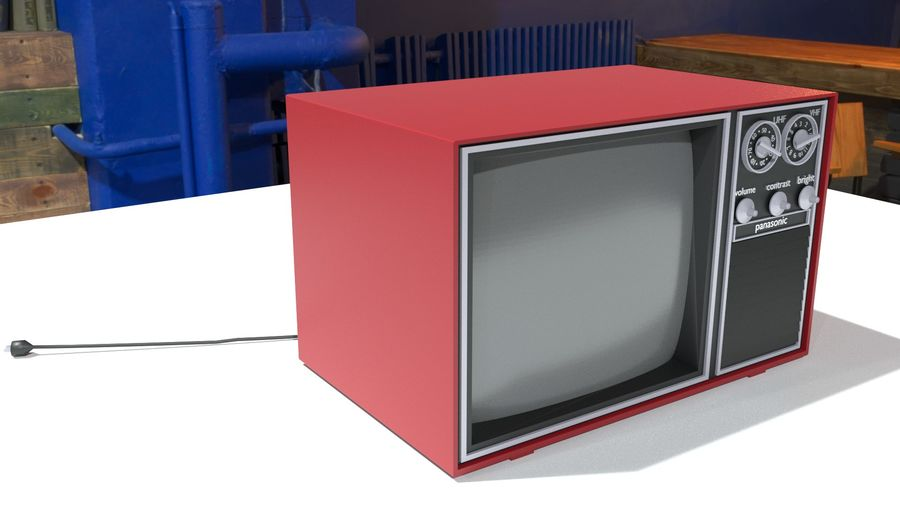 vintage tv-toestel royalty-free 3d model - Preview no. 5