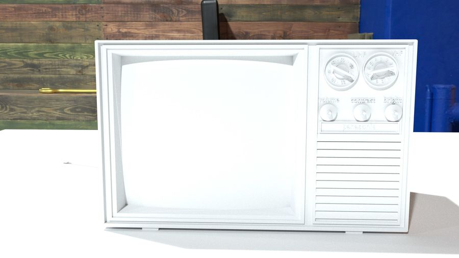 vintage tv-toestel royalty-free 3d model - Preview no. 6