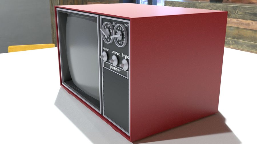 vintage tv-toestel royalty-free 3d model - Preview no. 2