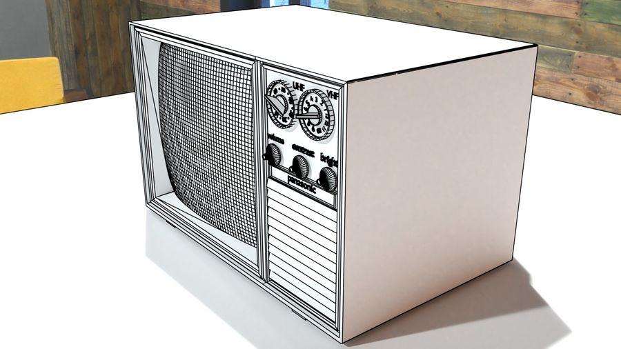 televisor vintage royalty-free modelo 3d - Preview no. 11