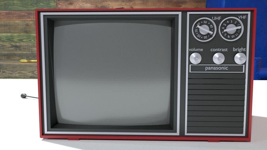 televisor vintage royalty-free modelo 3d - Preview no. 1