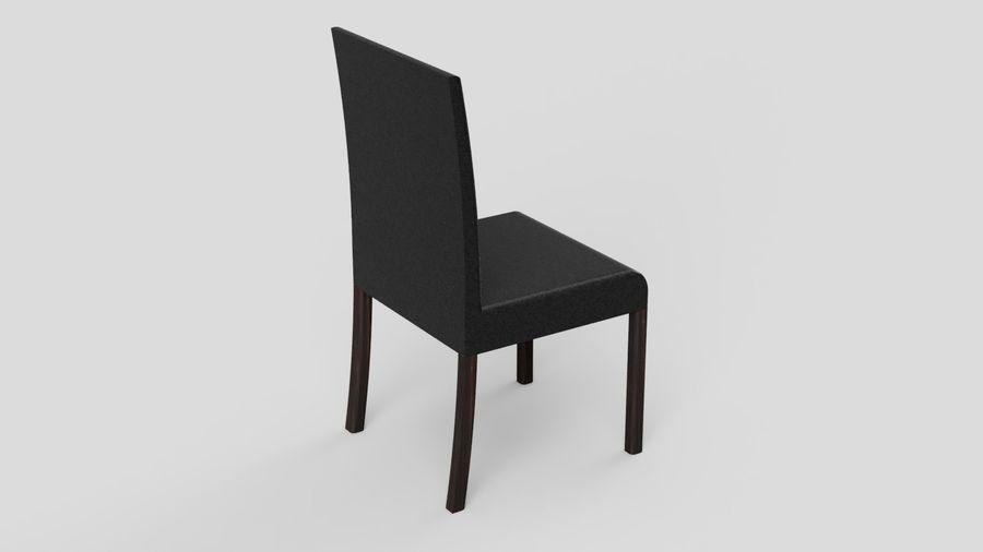 Современный деревянный стол со стульями royalty-free 3d model - Preview no. 11