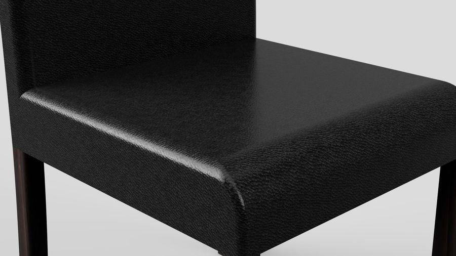 Современный деревянный стол со стульями royalty-free 3d model - Preview no. 10