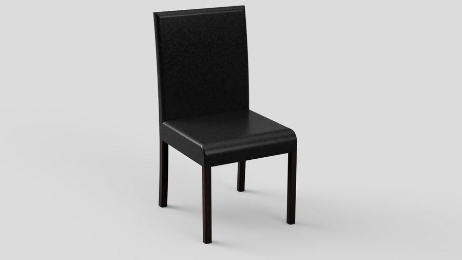 Современный деревянный стол со стульями royalty-free 3d model - Preview no. 9
