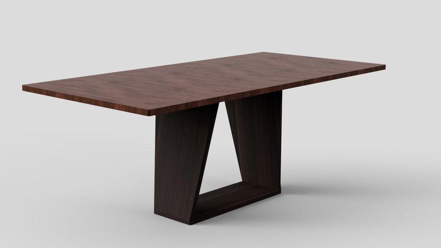 Современный деревянный стол со стульями royalty-free 3d model - Preview no. 4