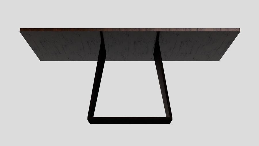 Современный деревянный стол со стульями royalty-free 3d model - Preview no. 7