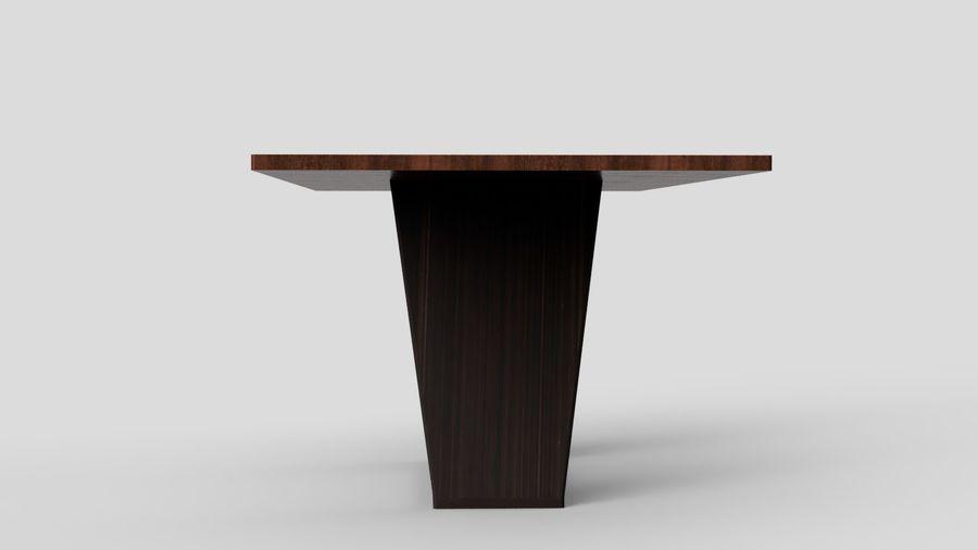 Современный деревянный стол со стульями royalty-free 3d model - Preview no. 12