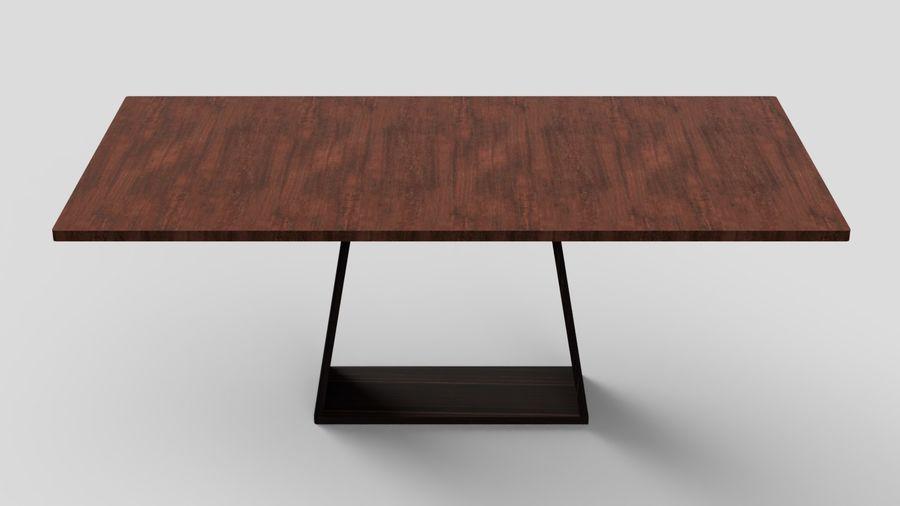 Современный деревянный стол со стульями royalty-free 3d model - Preview no. 6