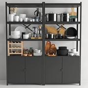 Köksartiklar och porslin 03 3d model