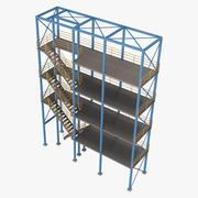 Industrieel platform 3 3d model