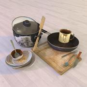 오래된 요리 3d model