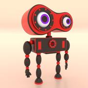 Zabawkowy robot 008 3d model