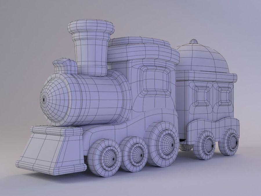 漫画のおもちゃの列車004 royalty-free 3d model - Preview no. 2