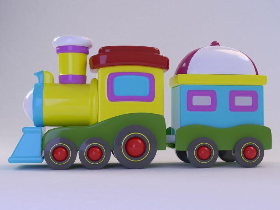 漫画のおもちゃの列車004 royalty-free 3d model - Preview no. 3
