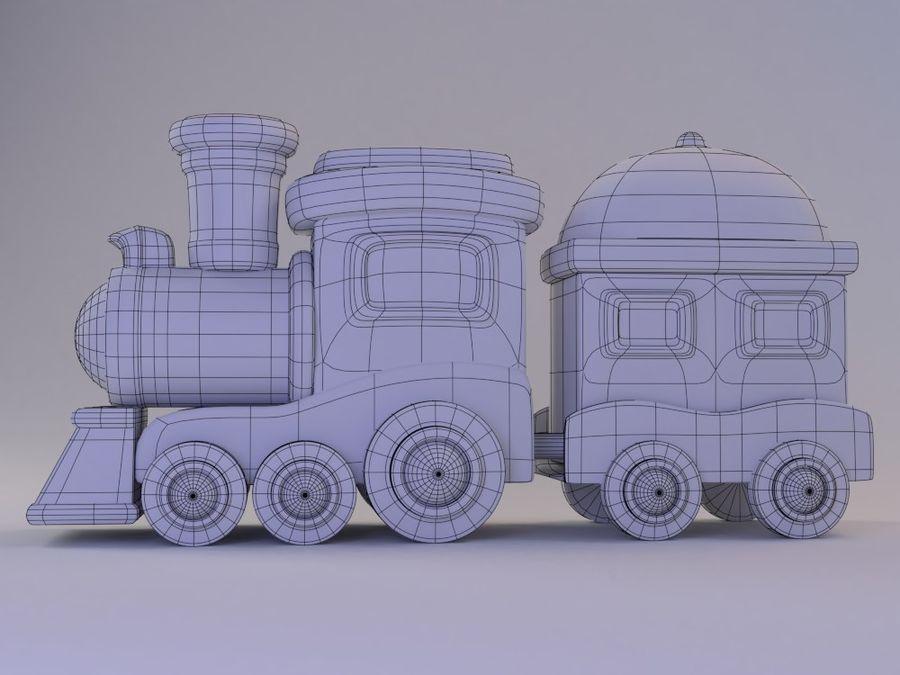 漫画のおもちゃの列車004 royalty-free 3d model - Preview no. 4
