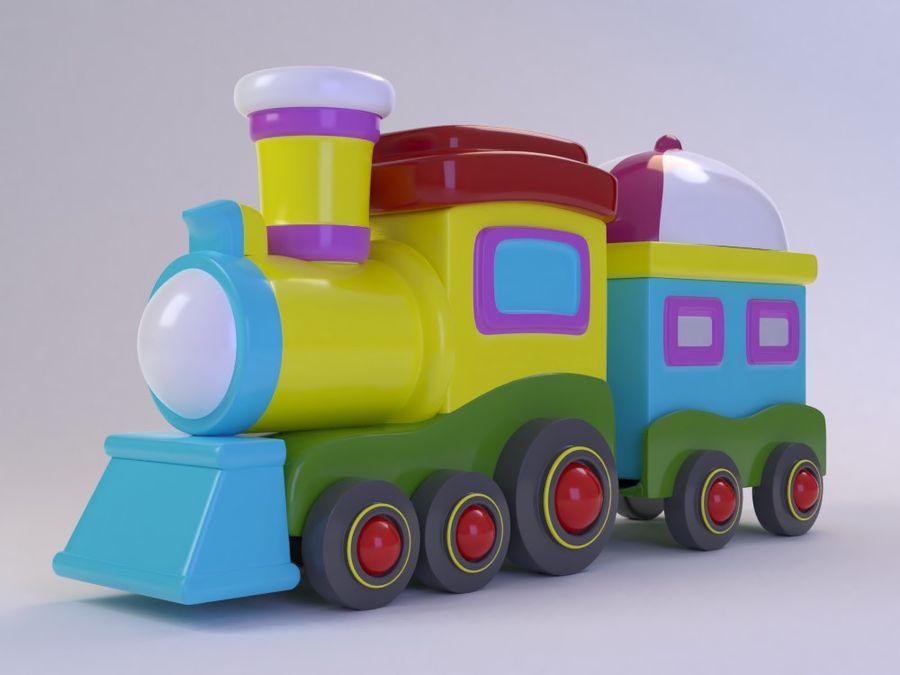 漫画のおもちゃの列車004 royalty-free 3d model - Preview no. 1