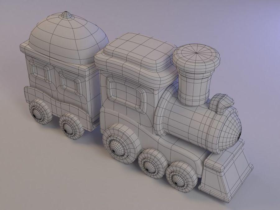 漫画のおもちゃの列車004 royalty-free 3d model - Preview no. 8