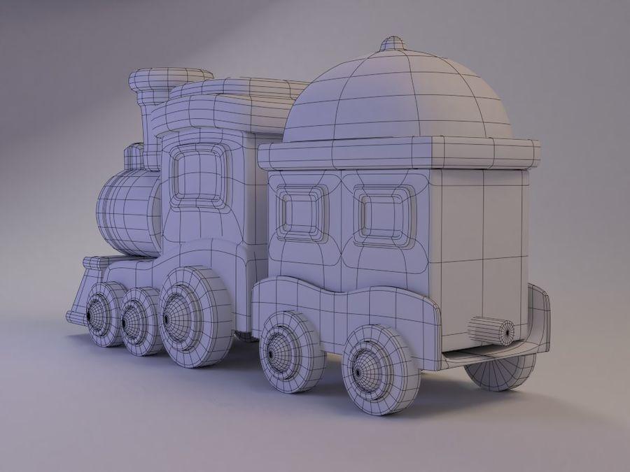 漫画のおもちゃの列車004 royalty-free 3d model - Preview no. 6