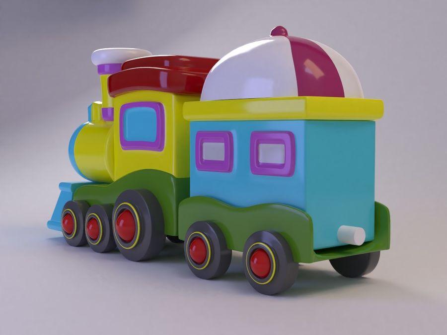 漫画のおもちゃの列車004 royalty-free 3d model - Preview no. 5